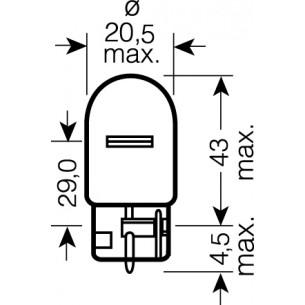 OSRAM 12V W21W (W3x16d) 21W standard (1ks)