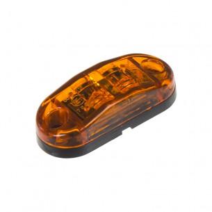 Boční obrysové LED světlo 12-24V, oranžový ovál, ECE R91