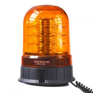 LED maják, 12-24V, 24x3W oranžový, magnet, ECE R65