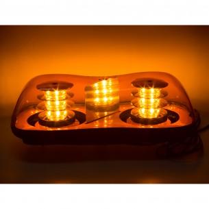 LED rampa oranžová, 36LEDx3W, fix, 12-24V, 419mm, ECE R65 R10