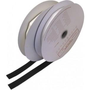 Suchý zip samolepící - háčky, 0,2x25m, černý