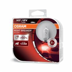 OSRAM 12V H7 55W night breaker silver (2ks) Duo-box