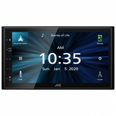 "JVC 2DIN autorádio/6,8"" displej/USB/AUX/Bluetooth/Apple CarPlay / Android Auto"
